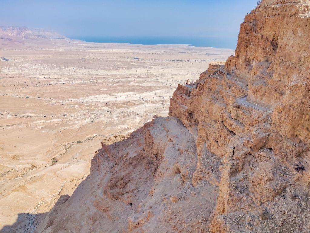 View of Dead Sea from Masada Israel